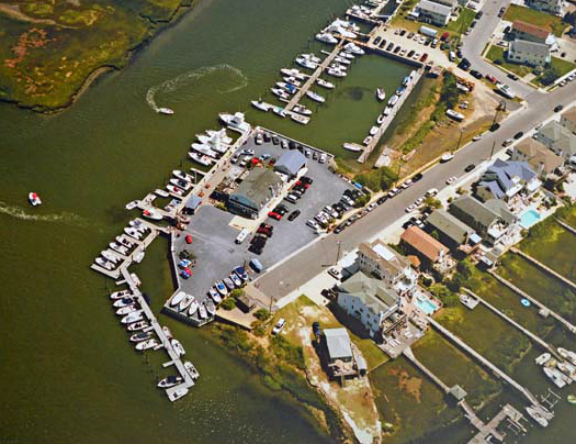 Aerial Avalon Anchorage Marina